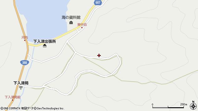 大分県佐伯市蒲江大字竹野浦河内1387周辺の地図