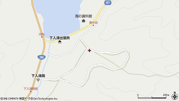 大分県佐伯市蒲江大字竹野浦河内1016周辺の地図