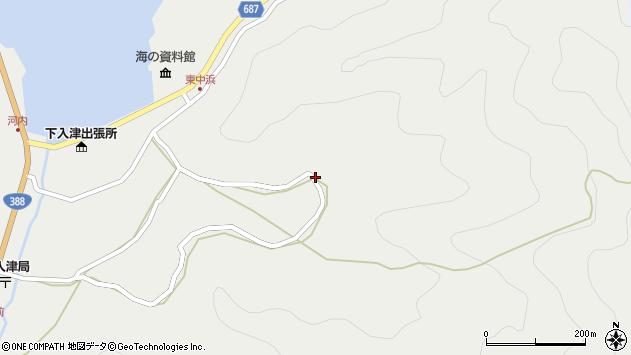 大分県佐伯市蒲江大字竹野浦河内1265周辺の地図