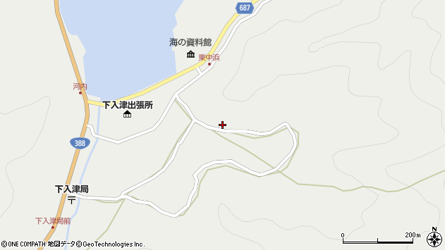 大分県佐伯市蒲江大字竹野浦河内1398周辺の地図
