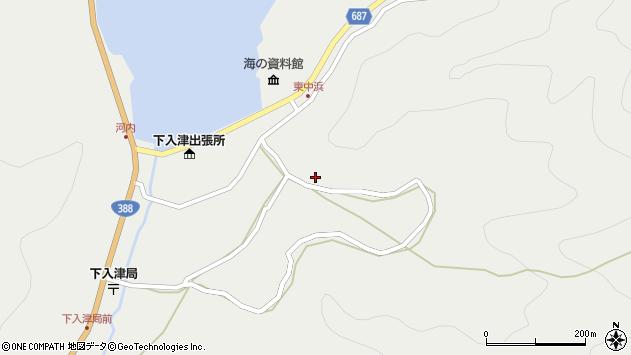 大分県佐伯市蒲江大字竹野浦河内1405周辺の地図