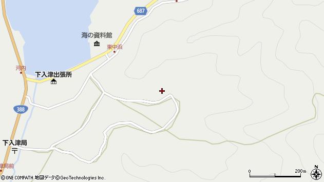 大分県佐伯市蒲江大字竹野浦河内1372周辺の地図
