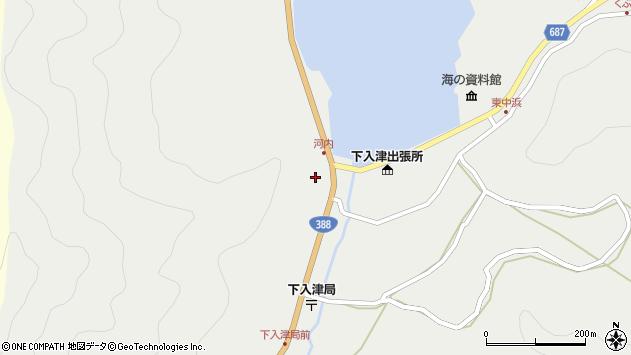 大分県佐伯市蒲江大字竹野浦河内279周辺の地図