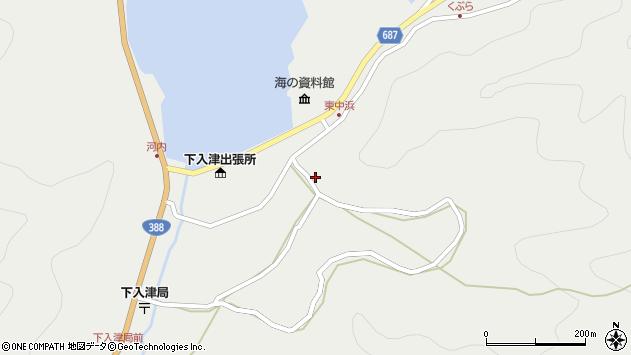 大分県佐伯市蒲江大字竹野浦河内1418周辺の地図