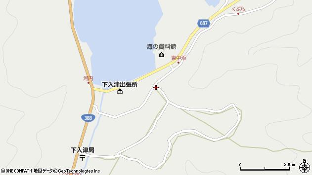 大分県佐伯市蒲江大字竹野浦河内972周辺の地図