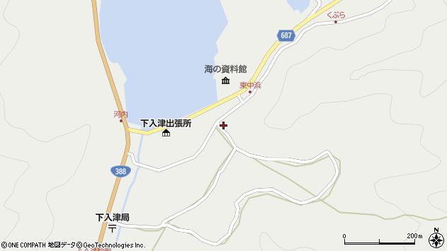 大分県佐伯市蒲江大字竹野浦河内1427周辺の地図