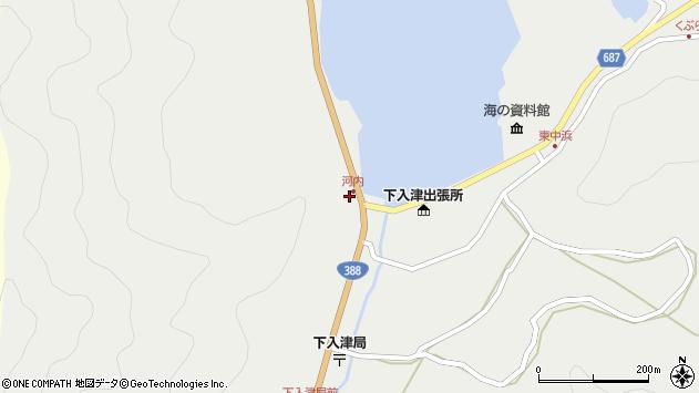 大分県佐伯市蒲江大字竹野浦河内276周辺の地図
