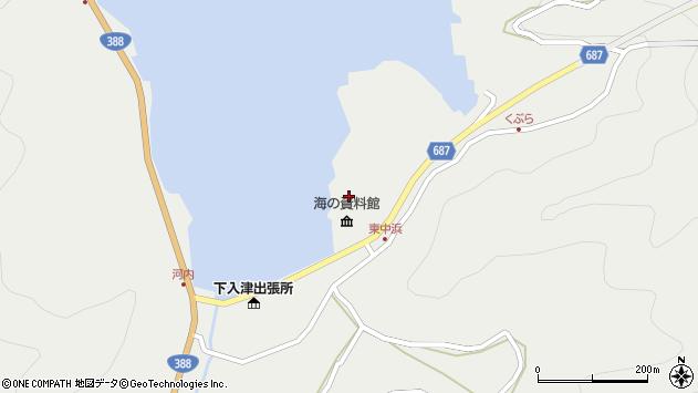 大分県佐伯市蒲江大字竹野浦河内1450周辺の地図