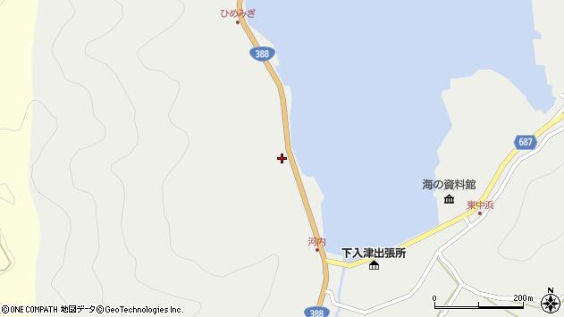 大分県佐伯市蒲江大字竹野浦河内221周辺の地図