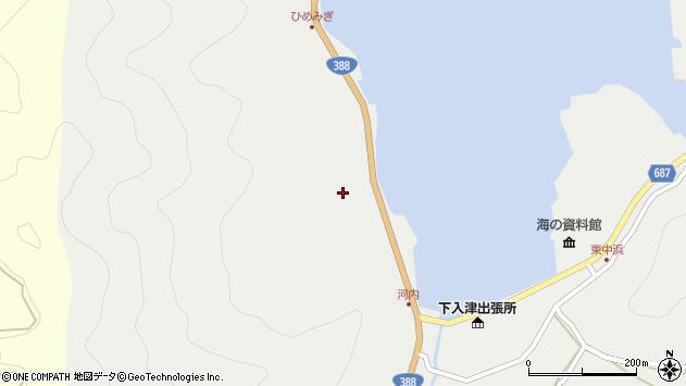 大分県佐伯市蒲江大字竹野浦河内172周辺の地図