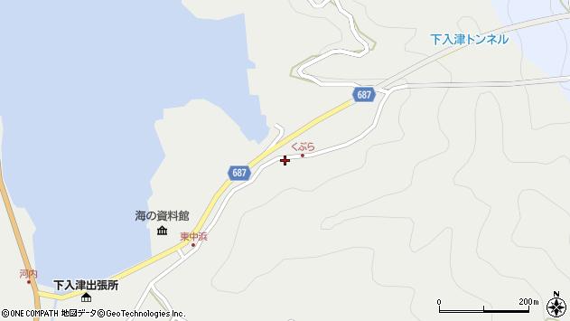 大分県佐伯市蒲江大字竹野浦河内1497周辺の地図