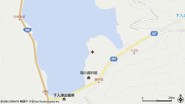 大分県佐伯市蒲江大字竹野浦河内1527周辺の地図