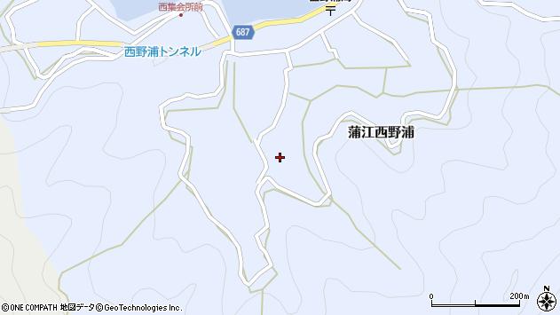大分県佐伯市蒲江大字西野浦1055周辺の地図