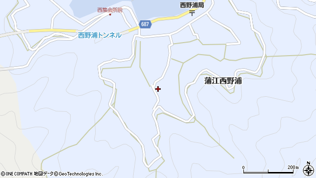 大分県佐伯市蒲江大字西野浦1057周辺の地図