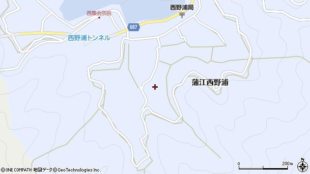 大分県佐伯市蒲江大字西野浦1076周辺の地図