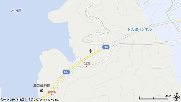 大分県佐伯市蒲江大字竹野浦河内1520周辺の地図
