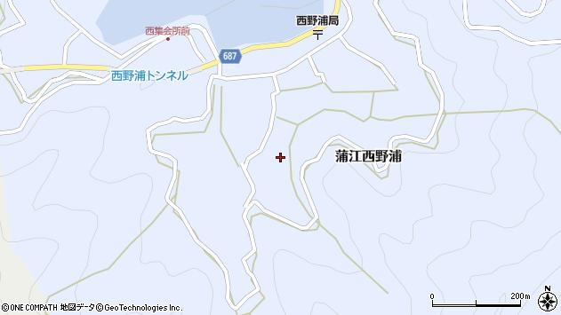 大分県佐伯市蒲江大字西野浦1085周辺の地図