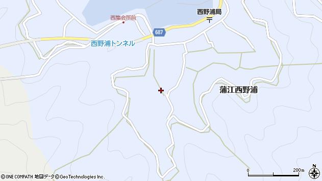 大分県佐伯市蒲江大字西野浦896周辺の地図