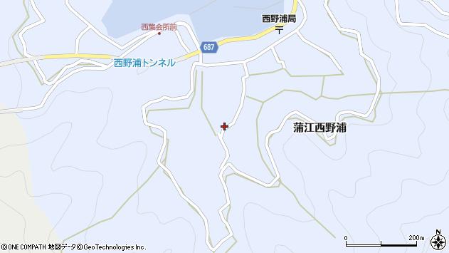 大分県佐伯市蒲江大字西野浦1061周辺の地図