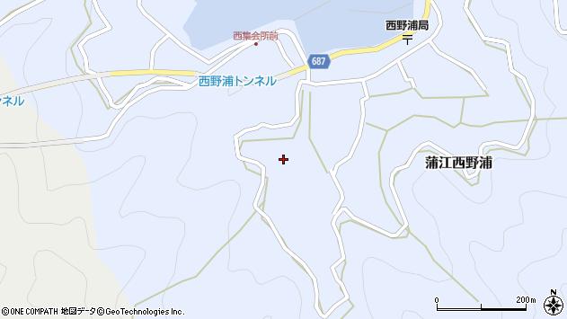 大分県佐伯市蒲江大字西野浦583周辺の地図