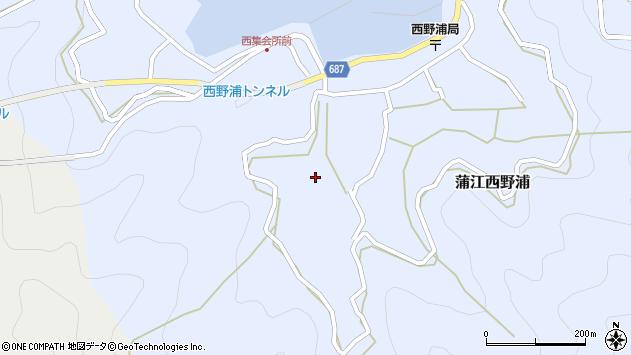 大分県佐伯市蒲江大字西野浦488周辺の地図