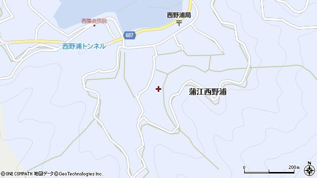 大分県佐伯市蒲江大字西野浦1172周辺の地図