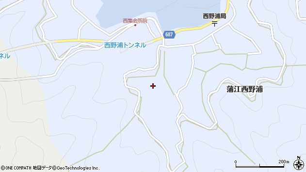 大分県佐伯市蒲江大字西野浦491周辺の地図