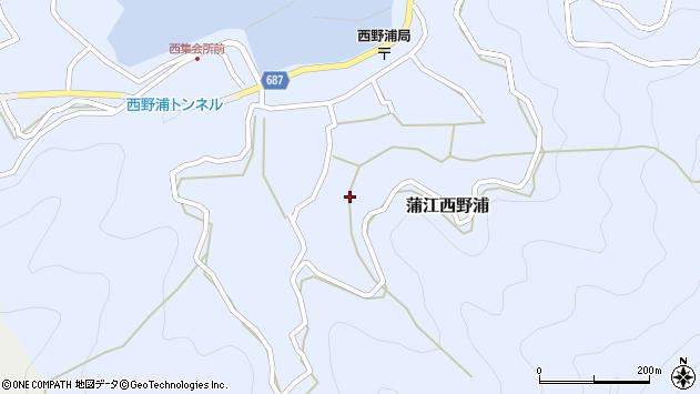 大分県佐伯市蒲江大字西野浦1187周辺の地図