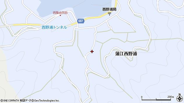 大分県佐伯市蒲江大字西野浦1081周辺の地図