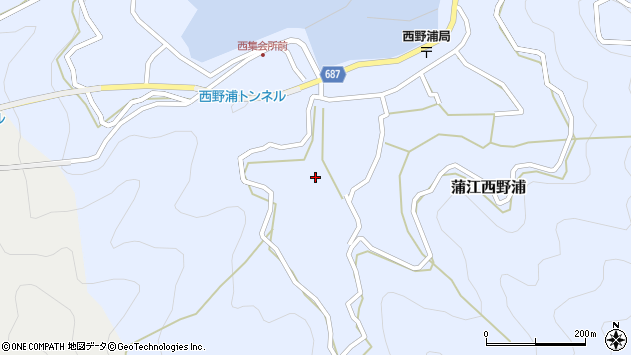 大分県佐伯市蒲江大字西野浦487周辺の地図
