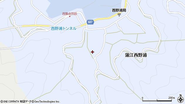 大分県佐伯市蒲江大字西野浦455周辺の地図