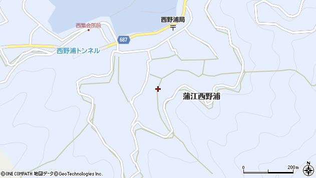 大分県佐伯市蒲江大字西野浦1175周辺の地図