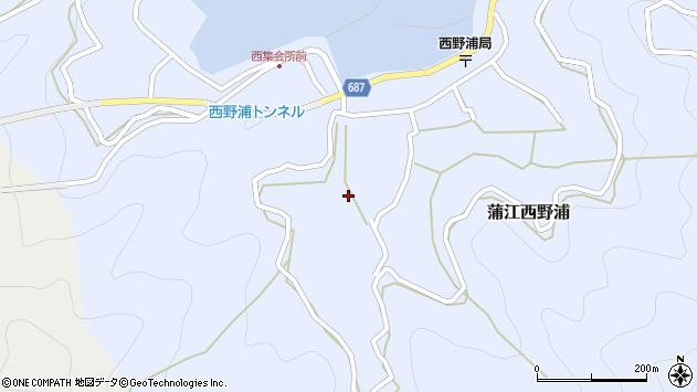 大分県佐伯市蒲江大字西野浦484周辺の地図