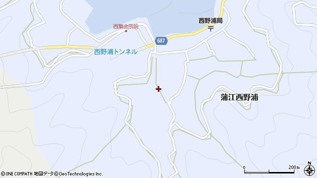 大分県佐伯市蒲江大字西野浦483周辺の地図
