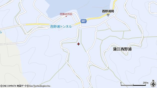 大分県佐伯市蒲江大字西野浦480周辺の地図