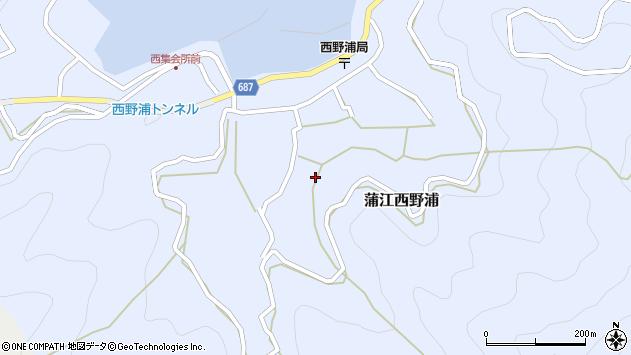 大分県佐伯市蒲江大字西野浦1191周辺の地図