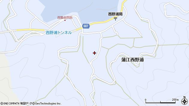 大分県佐伯市蒲江大字西野浦1067周辺の地図