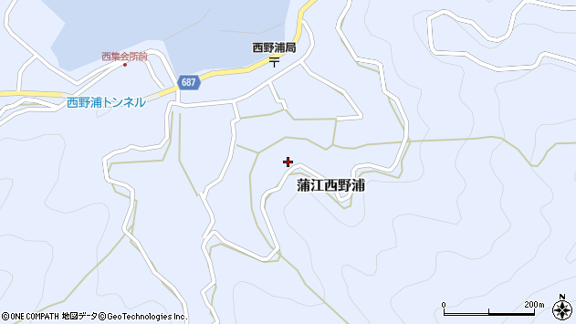 大分県佐伯市蒲江大字西野浦1199周辺の地図