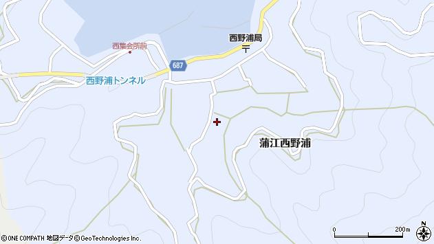 大分県佐伯市蒲江大字西野浦1110周辺の地図