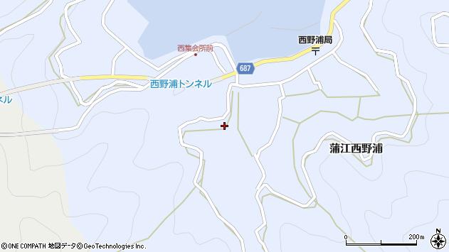 大分県佐伯市蒲江大字西野浦494周辺の地図
