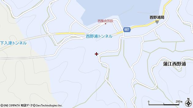 大分県佐伯市蒲江大字西野浦535周辺の地図