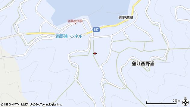 大分県佐伯市蒲江大字西野浦364周辺の地図