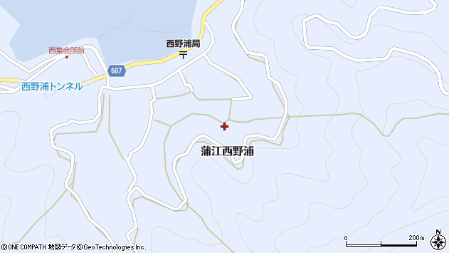大分県佐伯市蒲江大字西野浦1324周辺の地図