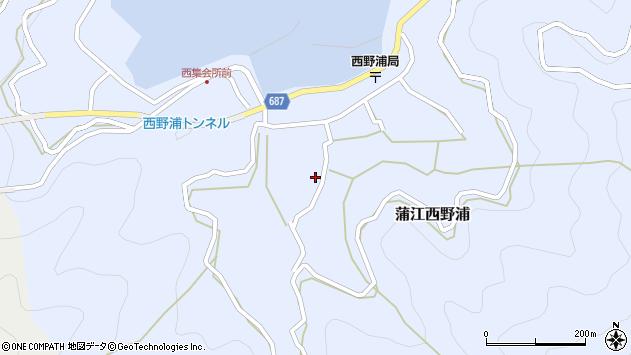 大分県佐伯市蒲江大字西野浦1099周辺の地図