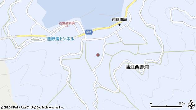 大分県佐伯市蒲江大字西野浦1103周辺の地図