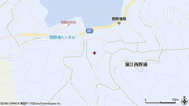 大分県佐伯市蒲江大字西野浦449周辺の地図