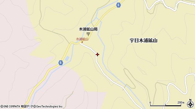 大分県佐伯市宇目大字木浦鉱山446周辺の地図