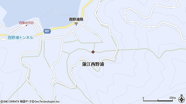 大分県佐伯市蒲江大字西野浦1376周辺の地図