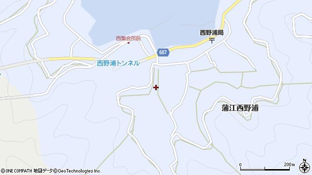 大分県佐伯市蒲江大字西野浦478周辺の地図