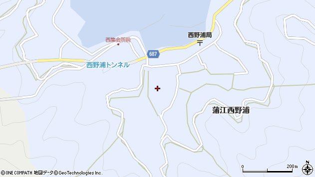 大分県佐伯市蒲江大字西野浦432周辺の地図